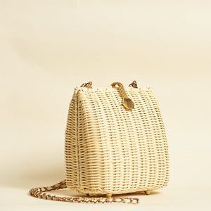 Vintage woven crossbody purse clutch